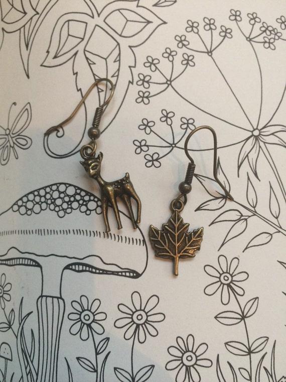 Antique Look Nature Girl Earrings