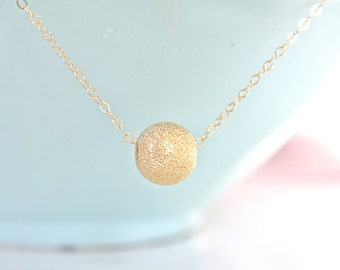 Dainty Gold Necklace, Gold Necklace, Gold Nugget Necklace, Simple Necklace, Bridesmaid Necklace, gifts for her, best friend gifts girlfriend