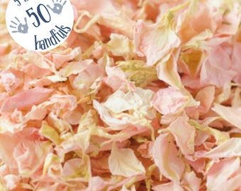 5 Litres approx 50 guests Natural Wedding Confetti Eco-Friendly Biodegradable Dried Delphinium Petals Candy, Pink