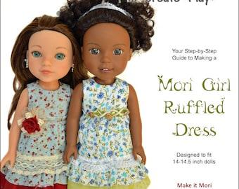 Mori Girl Ruffled Dress for 14-14.5 inch dolls