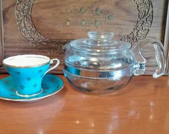 Pyrex 6 Cup Teapot   , Flameware Pyrex Number 8446, 6 Cup Tea Pot, Vintage Percolator, Best Tea Ever!