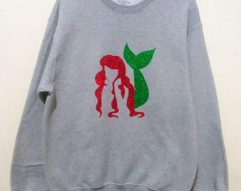 Little Mermaid Hand Painted Sweatshirt