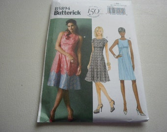 Pattern ladies Dress 3  Styles Sizes 8 to 16 Butterick 5894