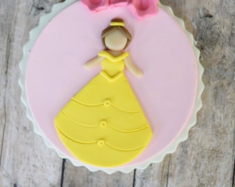 Beauty and the Beast Ornament, Belle, Disney Princess Ornament, Whimsical Ornament, Belle, Princess, Flowers, Disney, Beauty and the Beast