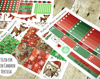 Planner Stickers - Woodland Christmas - Christmas Planner Stickers - Erin Condren - Happy Planner -Day Designer - Functional stickers