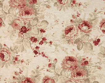 Shablis Rose cotton fabric by the yard Magnolia Home Fashions