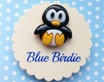 Penguin brooch penguin badge penguin jewelry penguin jewellery penguin gifts cute penguin pin badge