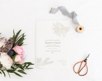 Winter Wedding Invitation, Winter Wedding Invite, Christmas Wedding Invitation, Christmas Wedding Invite, Victoria Collection