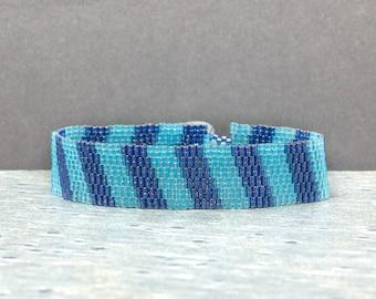 Beaded Bracelet, Beaded Jewelry, Blue, Seed Bead Jewelry, Boho Bracelet, Gift Idea