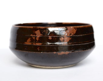 Black and Red Bowl with Tenmoku Glaze