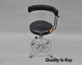 Reliance F&F Koenigkramer Medical Chair Dentist Dental Exam Stool Ophthalmic Vintage