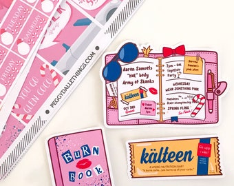 Mean Girls Stickers | Mean Girls Die cuts | Planner Die Cuts | Burn Book