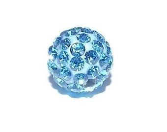 Shamballa bead, Sapphire clear 10 mm - Ref 2340-122 - until the stock!