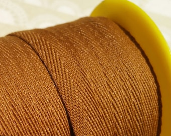 """Brown Twill Tape Trim - Sewing Bunting Shipping Packaging - 3/8"""" Wide - 10 Yards"""