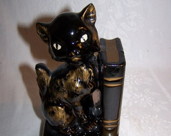 Black Cat Bookend/ Pencil holder