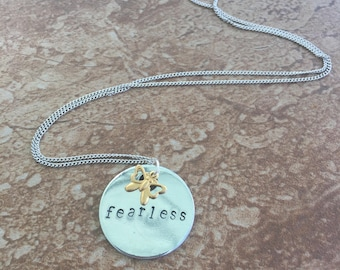 Fearless  - Hand Stamped Necklace, Key Chain, or Bracelet