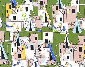 Best Fort Ever (Green) - Let's Pretend - Sarah Jane - Michael Miller Fabrics - 1 Yard