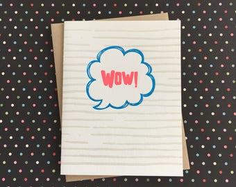 Wow Letterpress Card