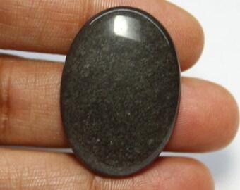Natural Black Sheen Obsidian Cabochons,Black Sheen Obsidian Gemstone,Silver Sheen Obsidian loose stone,Obsidian loose Gems(28X18mm)#729