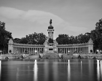 Retiro Park, Madrid, Spain, España, Black and White, Romantic, Row Boats, Relaxing - Travel Photography, Print, Wall Art
