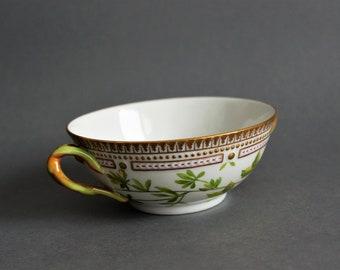 Royal Copenhagen - Flora Danica - Large Bouillon Cup # 3612 - Potentilla nivea L. - Vintage Royal Danish Porcelain - Danish Design