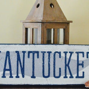 Nantucket Sign | Beach Sign | Hand Painted Wood Sign | Housewarming Gift |  Ocean Sign