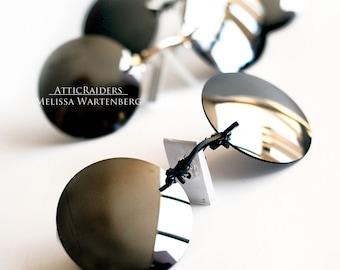 Silver Mens Sunglasses , Round Sunglasses , Retro Sunglasses , Steampunk Sunglasses , Steampunk , Steampunk Costume , Travel , Accessories