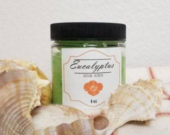 Eucalyptus Sugar Scrub- sugar scrub, exfoliating scrub, body exfoliation, gift for her, gift for moms, body scrub, gift for him