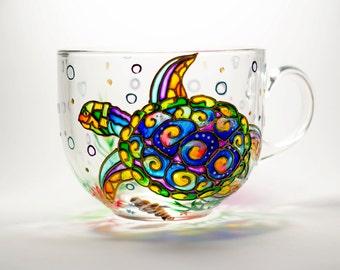 Turtle mug Girlfriend Gift, Cute coffee mug, Teacher Gift, Ocean Life Coffee Mug