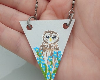 Barred Owl necklace