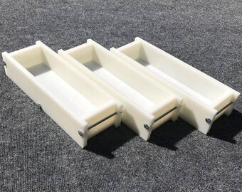 Lot of 3 HDPE Soap Loaf Making Mold 3 - 4 lb per mold CP Mp HP Oven Safe