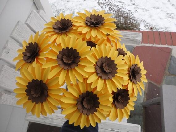 Items similar to paper sunflower bouquet dozen loose sunflowers on items similar to paper sunflower bouquet dozen loose sunflowers on etsy mightylinksfo