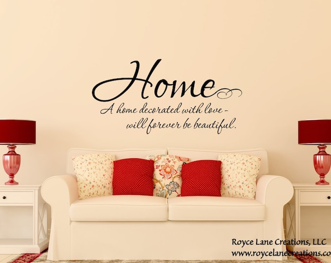 Home Quote Decal / Family Love Wall Decals / Family Quote Wall Decals / Family Quote Decal / Family Wall Sticker / Living Room Decal / Home