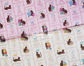 Oxford - kawaii cat fabric