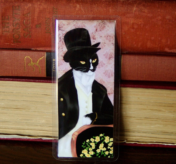 Mr Darcy Cat Pride and Prejudice Bookmark