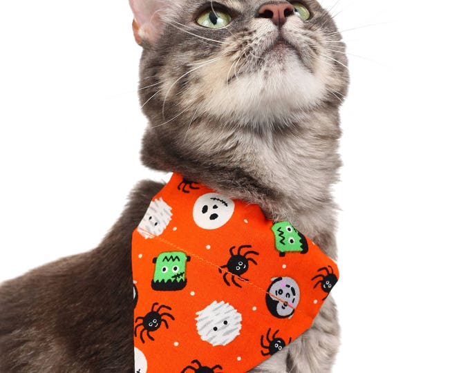 Pet Bandana - Monster Mashup - Pet Scarf - Collar Cover - Halloween