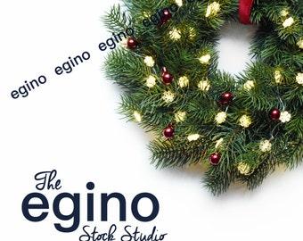 Styled Stock Photography | Styled Stock Photo | Styled Stock | Styled Photography - Christmas Wreath & Ornaments