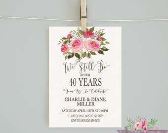 Anniversary Party Invitation/We Still Do Invitation/Anniversary Invitation/Anniversary Invite