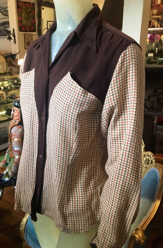 RARE Vintage 1940s Ranch Wear Women's Flannel Shirt Large