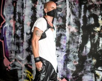 BLACK RAID Leather Harness Holster Resistance Tech Wear Vest