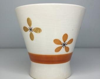 SALE! vintage Colorstone hand painted flower dish
