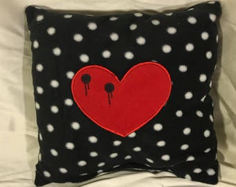 Vampire Bite Heart Pillow