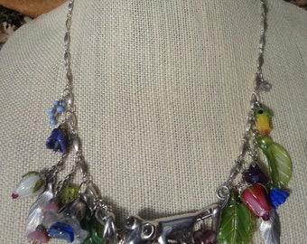 Vintage Silver Tree Frog Necklace—OOAK
