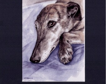 Greyhound My Brindle My Love Limited Edition Signed Art Print NEW Kevin Z