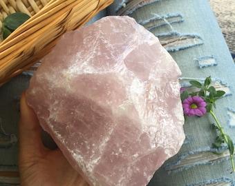 XL raw rose quartz , rose quartz chunk, large rose quartz, rose quartz, chakra stone