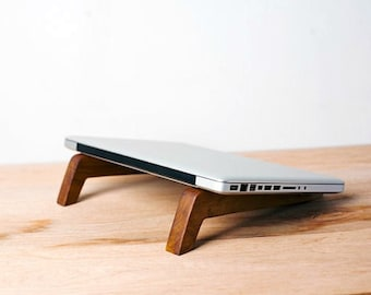 Wood, Laptop Station, Laptop Stand, Macbook Stand,  Fathers Day Gift, Portable  Stand, Graduation Gift, sustainable sourced hardwoods
