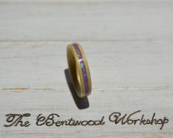 Bentwood ring | gift for her | mothers day gift | opal ring | wooden ring | wedding band | bentwood ring | engagement ring | dainty ring