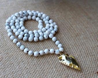 Beaded Arrowhead Pendant Necklace