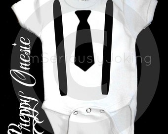 Suspender and Tie Onesie-Little Man Party-Mustache Party-Baby Shower gift-Baby gift-Hipster Baby-Little Man-Baby Boy-Baby Wedding outfit