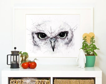 OWL EYES *Limited Edition Giclée Print on Watercolour Paper - 300gsm.